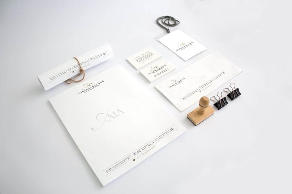 עיצוב ניירת משרדית משרד עורכי דין
