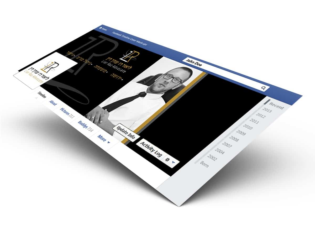 עיצוב לפייסבוק עיצוב קאבר למשרד עורכי דין ליאור רז