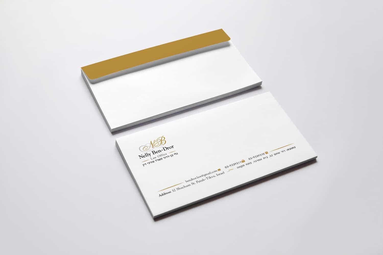 עיצוב מעטפה לעורכי דין