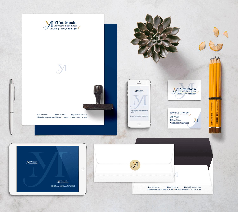 עיצוב לוגו וניירת משרדית לעורכת דין יפעת משה