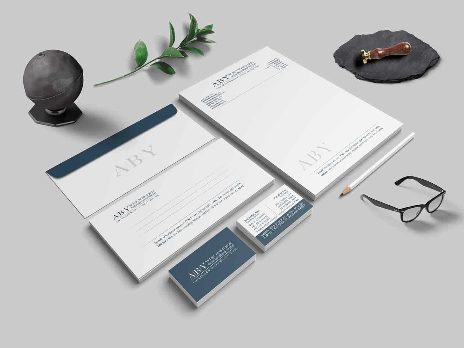 מיתוג ניירת משרדית לעורכי דין