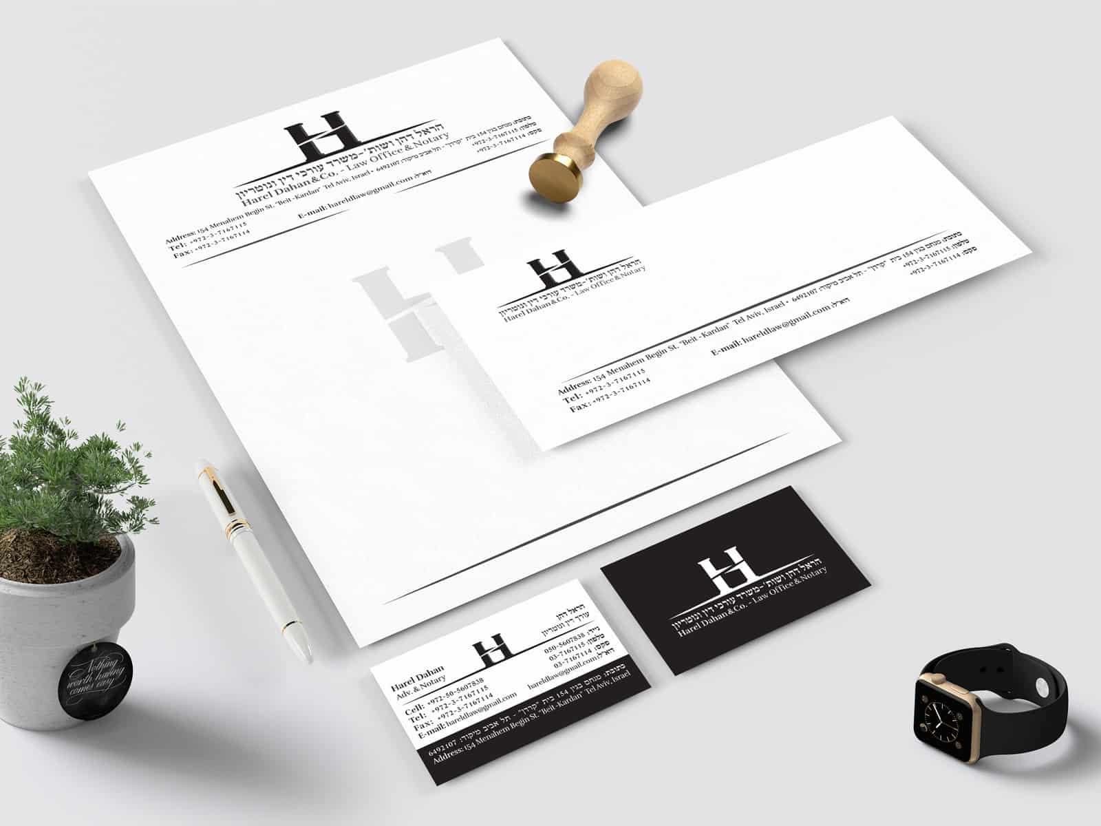 עיצוב לוגו לעורך דין וחבילות מיתוג לעורכי דין